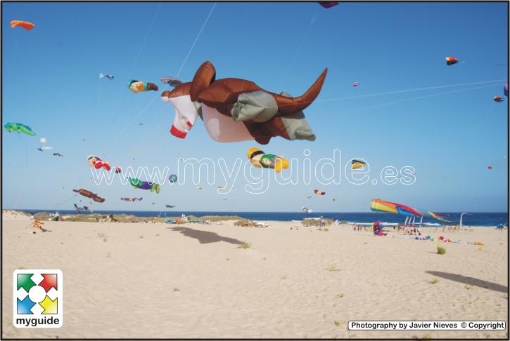 You are browsing images from the article: The International Kite Festival in Fuerteventura, La Oliva, Corralejo on the Beach called El Burro