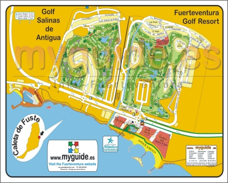 Fuerteventura Golf Club map in Caleta de Fuste